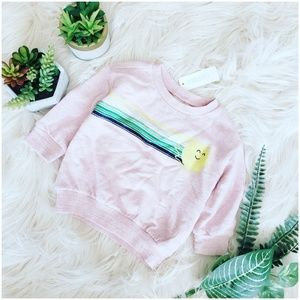 { gymboree } sunny day rainbow stripe sweatshirt